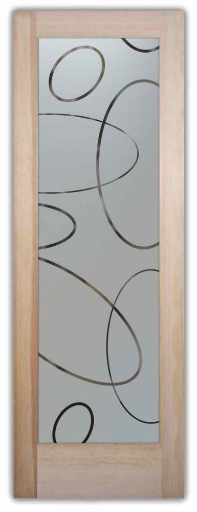 Etched Glass Doors Ovals Pattern Frosted Glass Door Sans