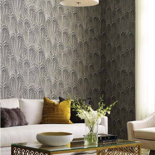 Deco Fountain Wallpaper from Candice Olson by York
