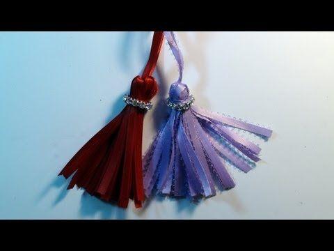 How To Make a Christmas Ribbon Tassle Ornament