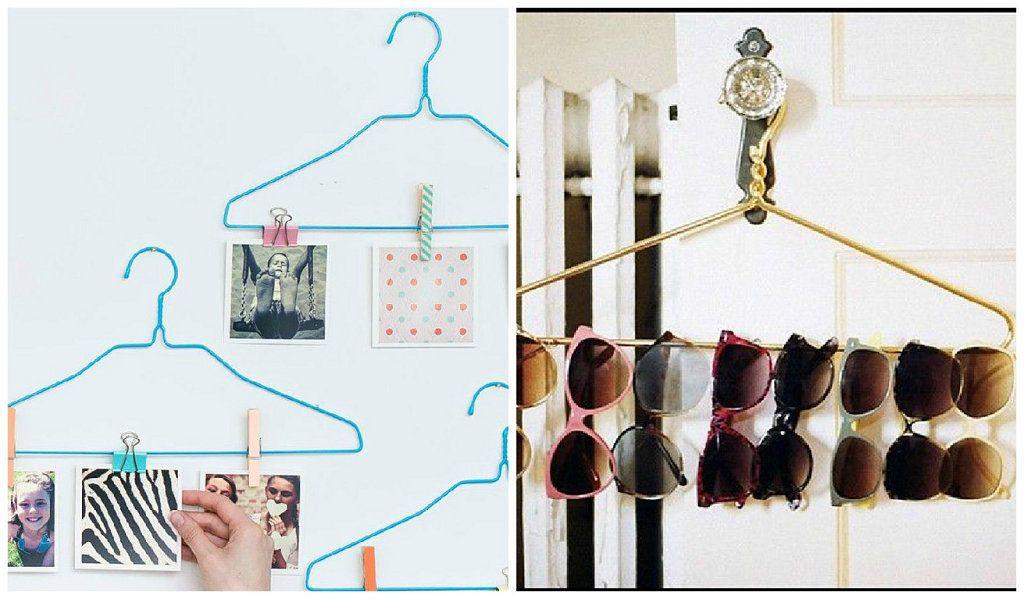 Ideas tiles para el hogar con perchas de madera y alambre optimizar el orden - Decoracion con reciclaje para el hogar ...