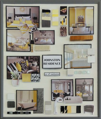 Interior decorating presentation boards google search - Interior design certification virginia ...