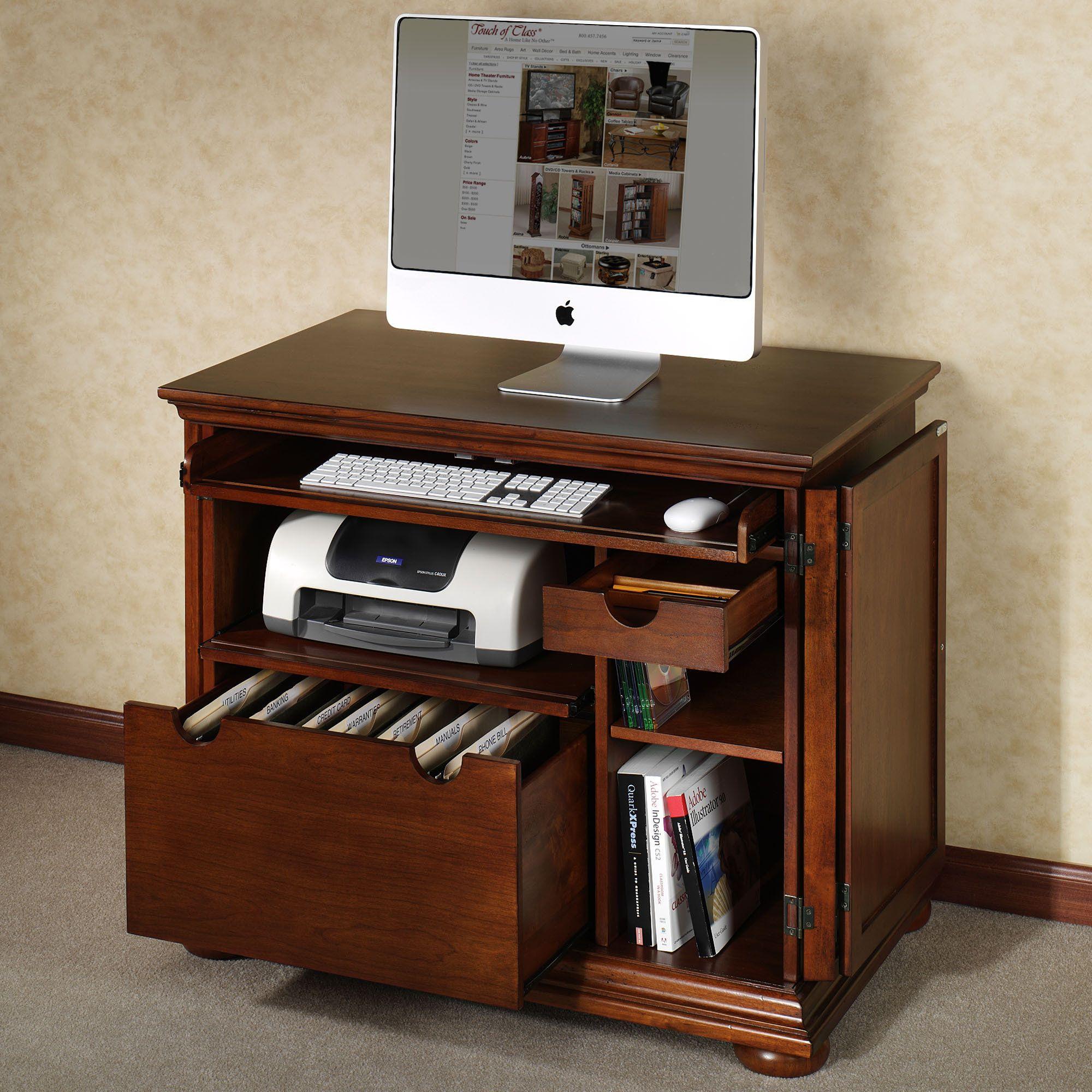 Compact Computer Desk Rv Living Pinterest Desks Drawer File Cabinet Small