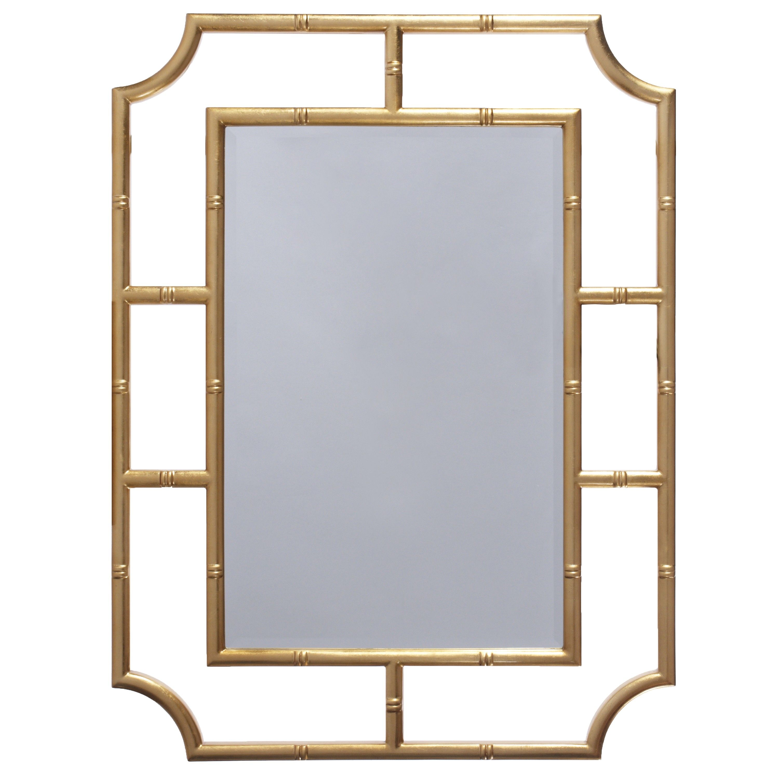 Marian gold leaf bamboo detail mirror | Pinterest