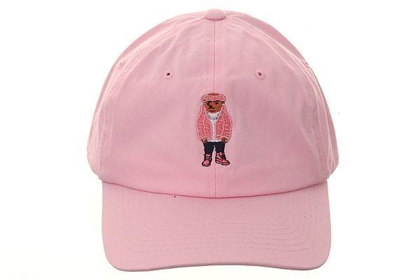 1c76b33f22f77b3fa5a26e4959816d30 by any meme cam'ron bear dad hat pink apparel design