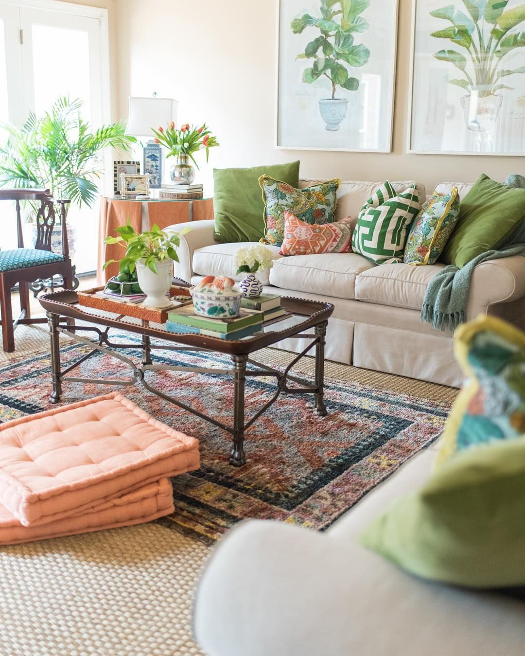 Coastal Living Decor Peach And Green Living Room Decor: Pin By Whitney Akom On House