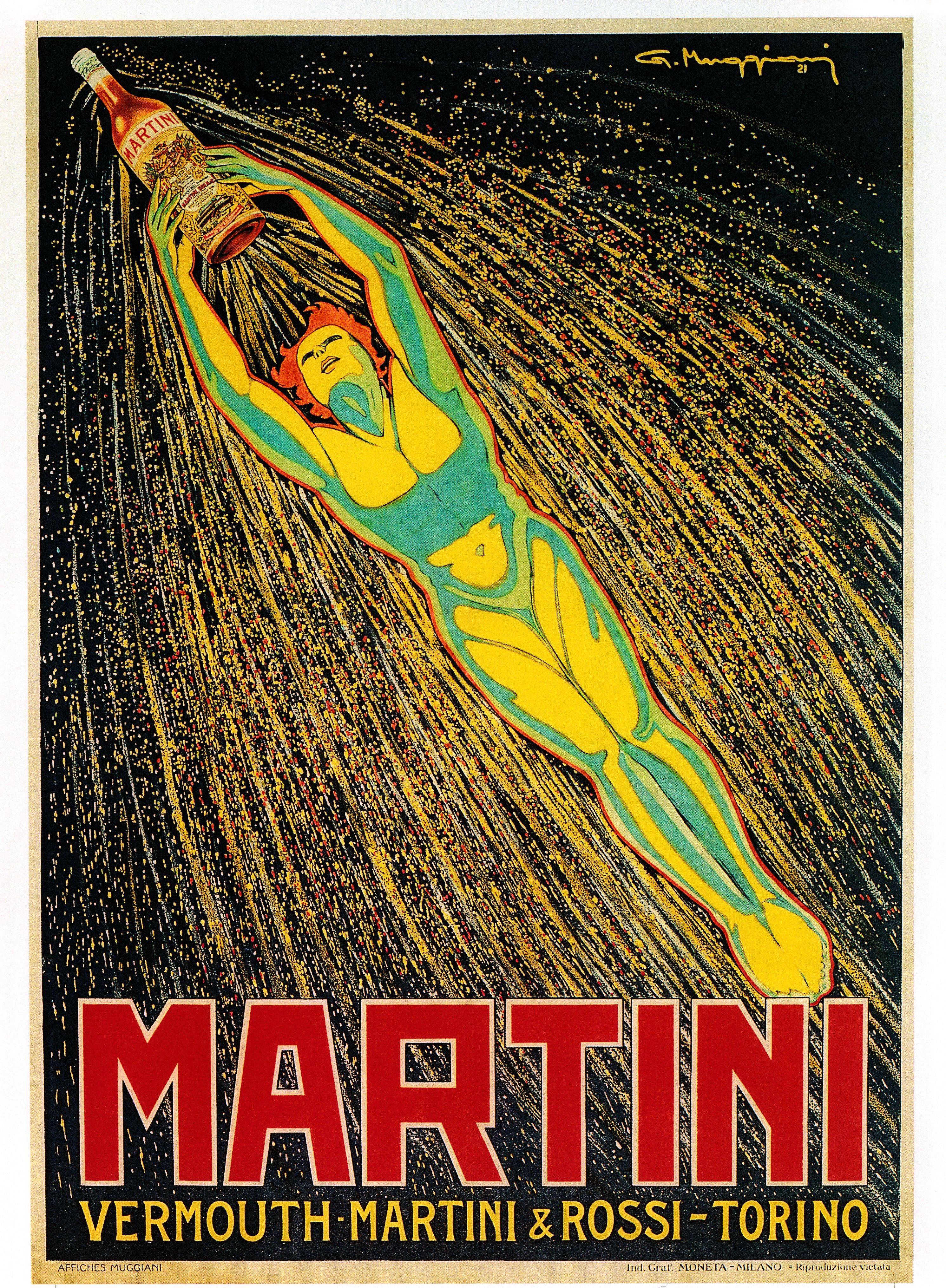 Beautiful #vintage MARTINI poster. Pin now for inspiration later. #150Years