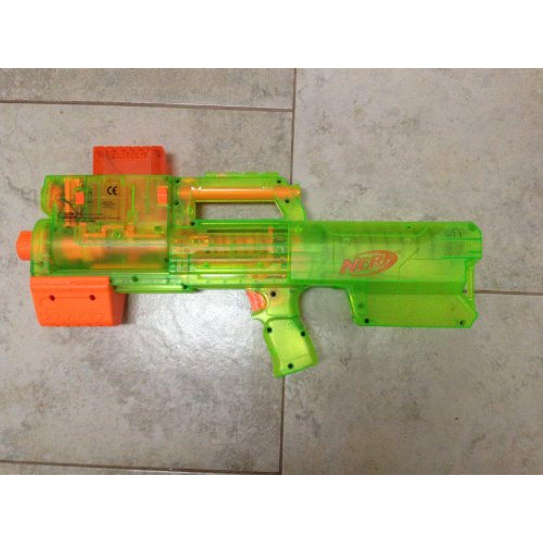 NERF N STRIKE SONIC SERIES DEPLOY CS 6 Dart Blaster Translucent Green