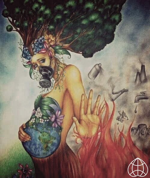 Save earth art