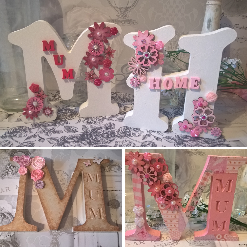MDF Wooden JOINED Word HOME LOVE Choice of fonts 12cm tall Free Standing