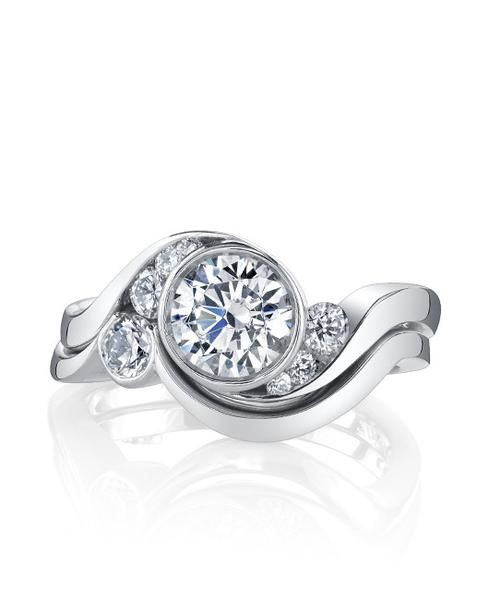 Mark Schneider Celestial Bypass Bezel Diamond Engagement Ring | Unique  engagement rings, Bezel diamond engagement ring, Diamond engagement rings