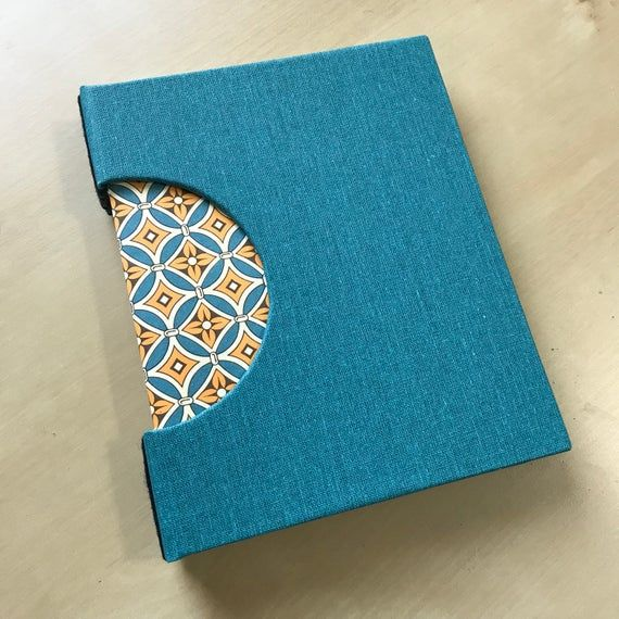 Decorative Sketchbook, Buttonhole Binding, Teal And