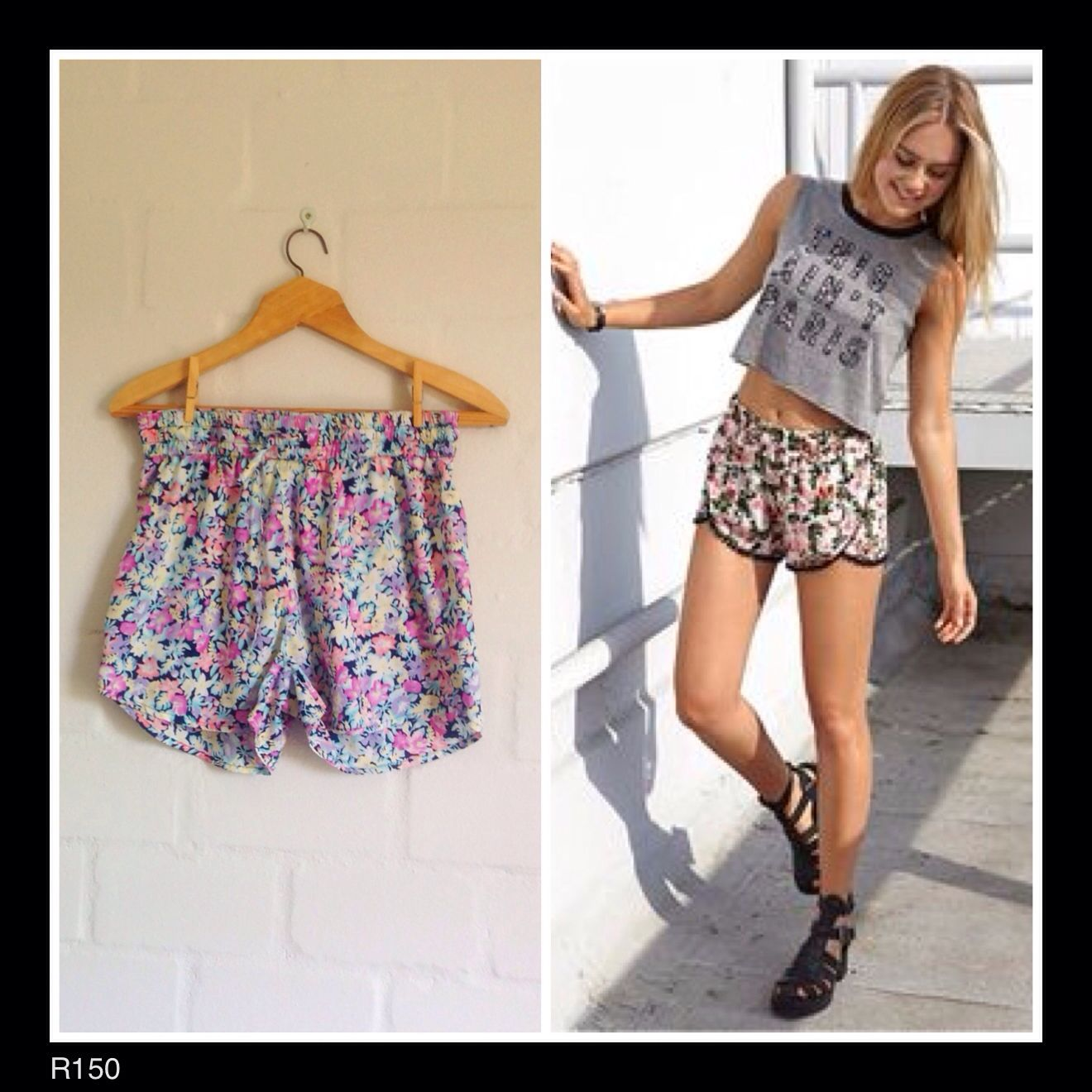 Cute festival shorts! Makes a welcome change to denim