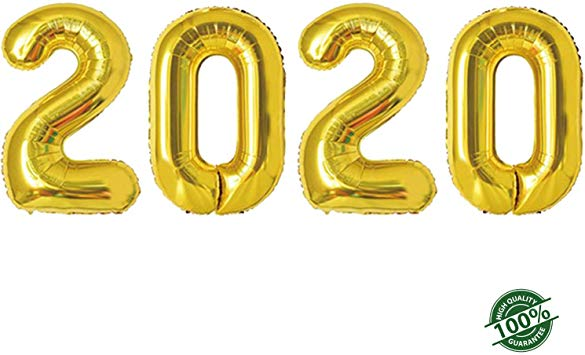 2020 Happy New Year Balloons 42inch Gold