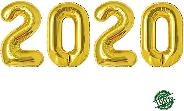 Amazon.com: 2020 Happy New Year Balloons | 42-inch Gold ...