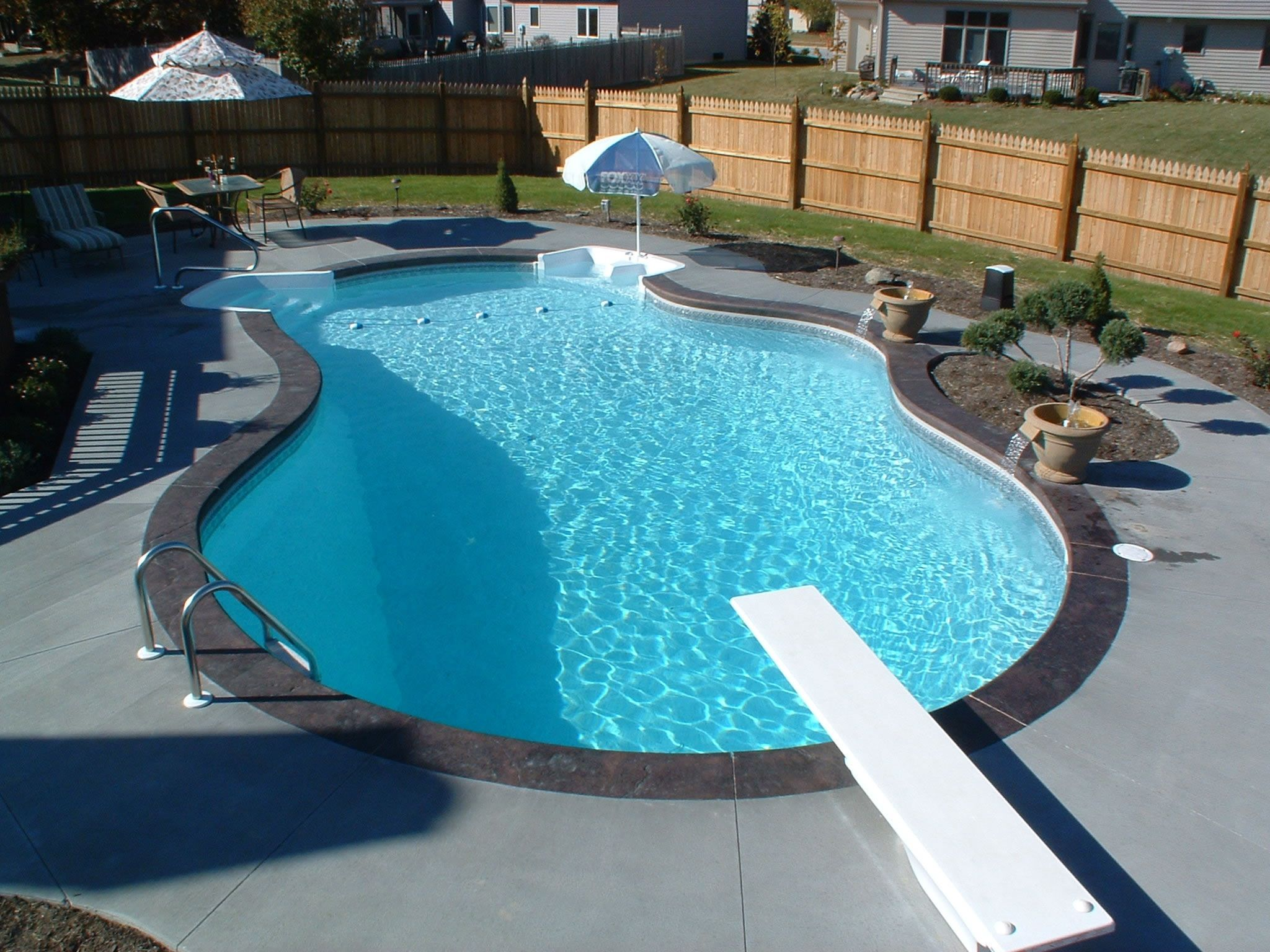 Our backyard makeover...in a few years. | Backyard pool ...
