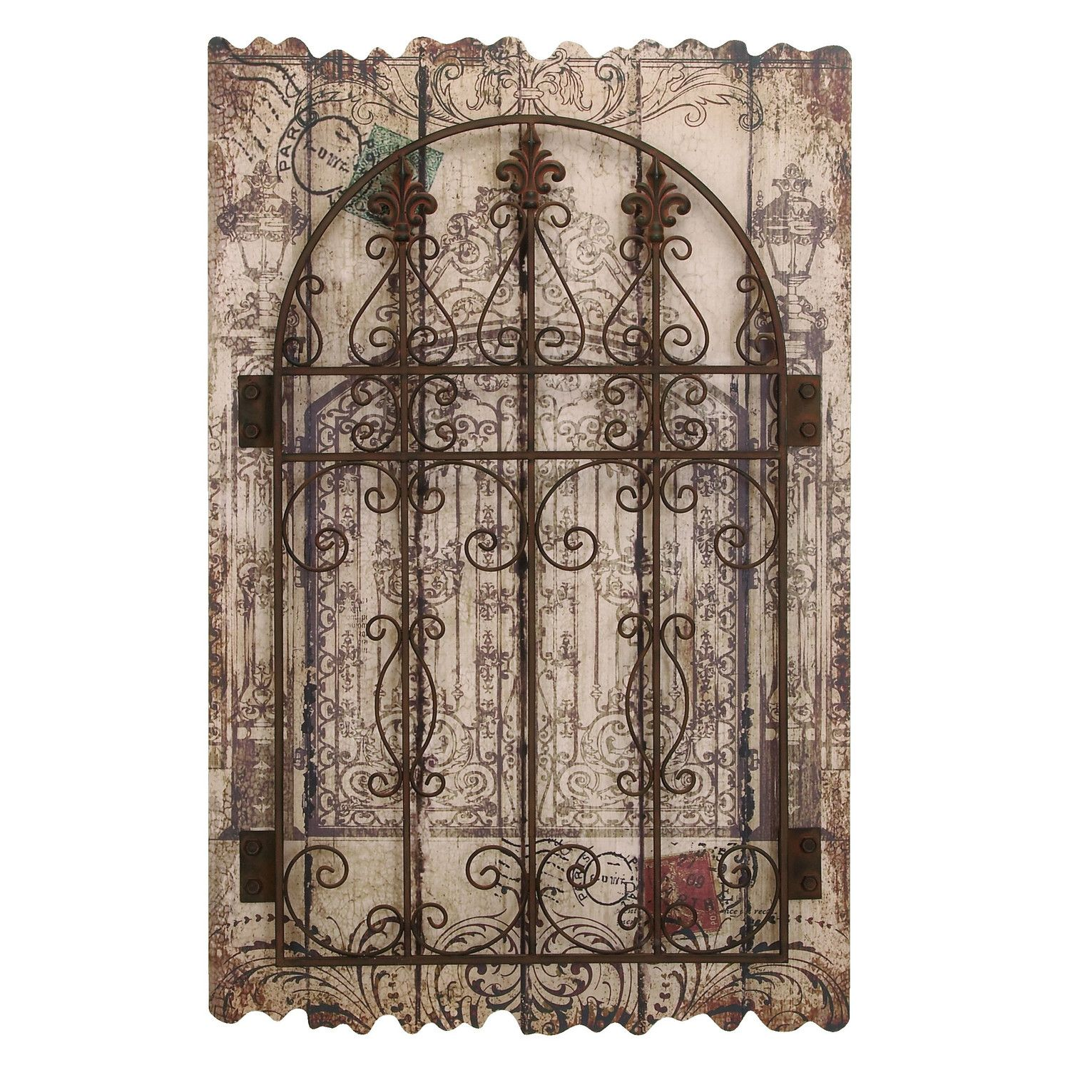 Woodland Imports D 233 Cor Rustic Intricated Wall D 233 Cor