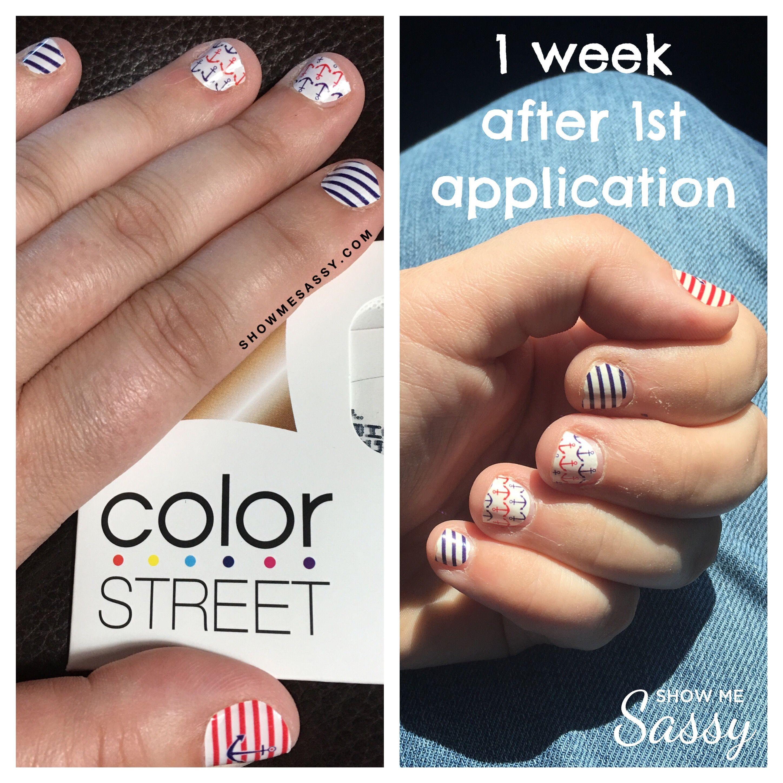 Patriotic nails. Long lasting nail color. Color Street nail polish ...