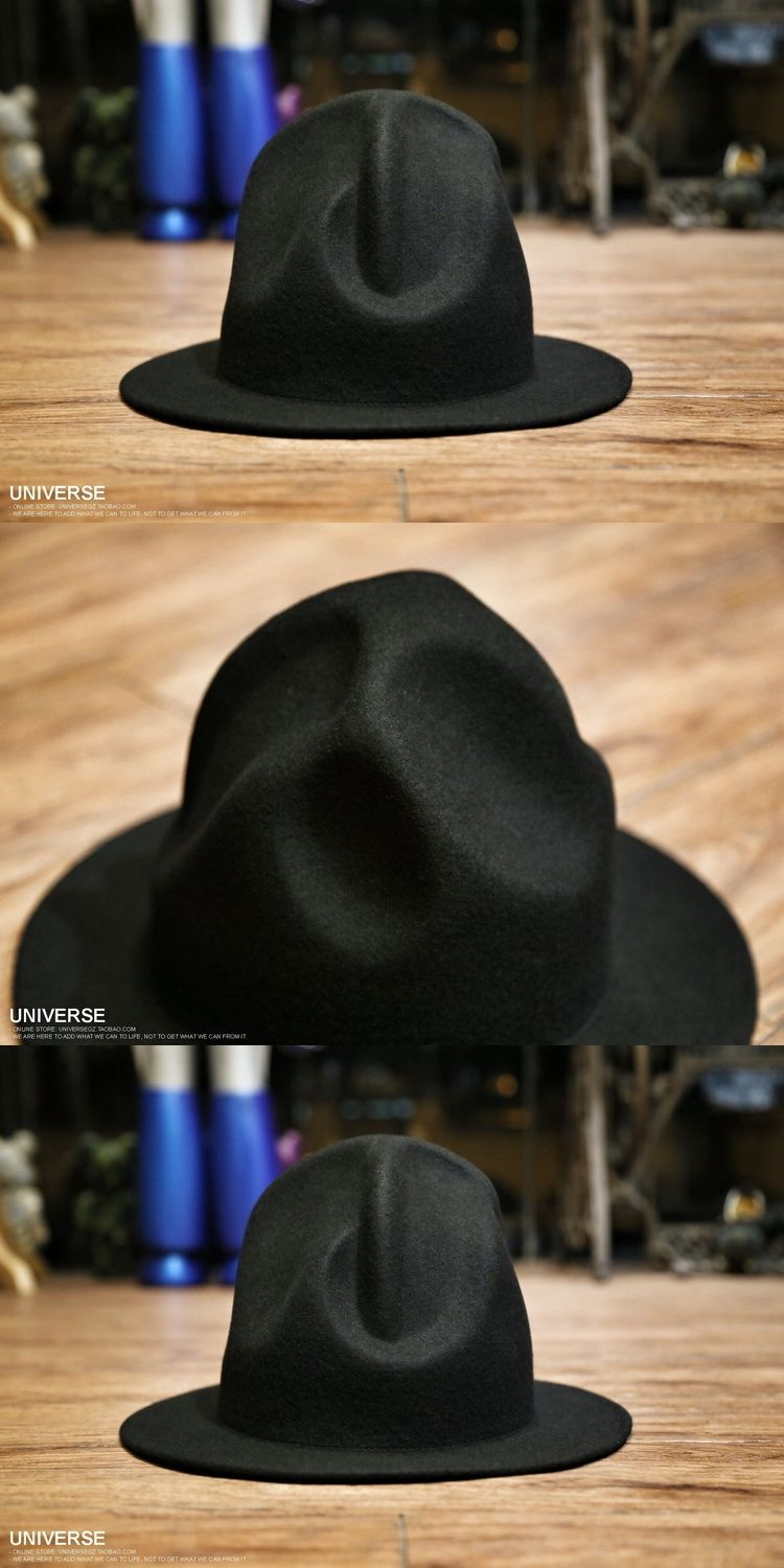 cbbcd1cb26c Women Men 100% wool Vivianwestwood Fedora hat Felt Mountain Hat Pharrell  Williams westwood Celebrity Style