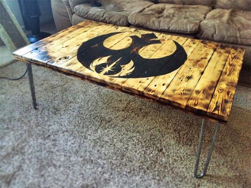 Star Wars Pallet Coffee Table | Geek CraftsGeek Crafts - Star Wars Pallet Coffee Table Geek CraftsGeek Crafts Star Wars