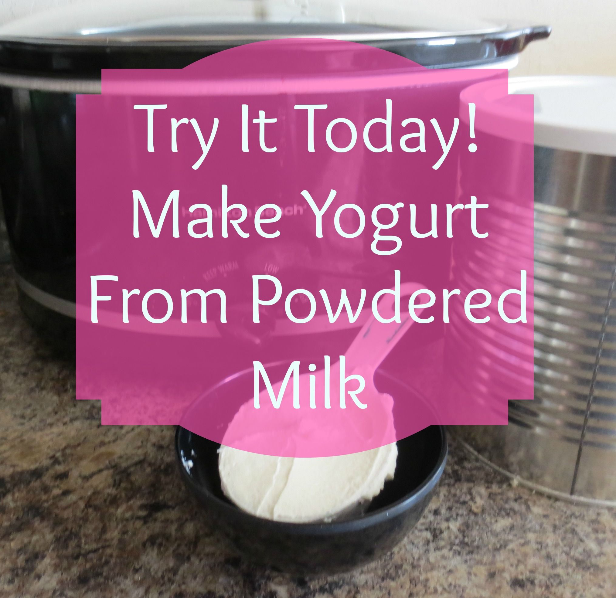 Try it Today! Homemade Yogurt from Powdered Milk – Survival Mom