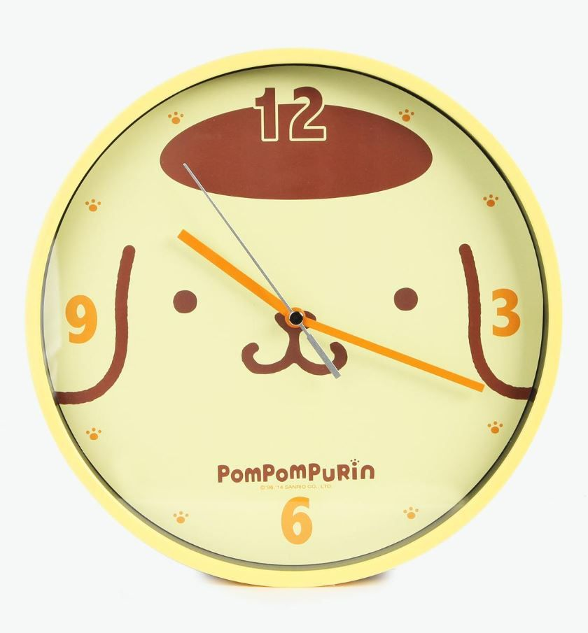 What's the time according to Purin? Time for pudding! Love this wall clock in bright yellow for a bright accent in the kitchen!