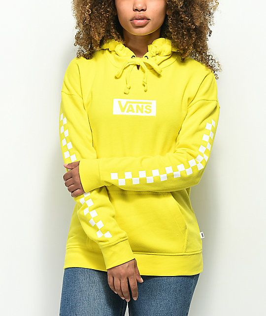 Vans Checkerboard Logo Yellow Hoodie in 2019  ce422e321