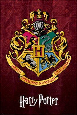 Harry Potter Hogwarts School Crest Maxi Poster In 2020 Harry