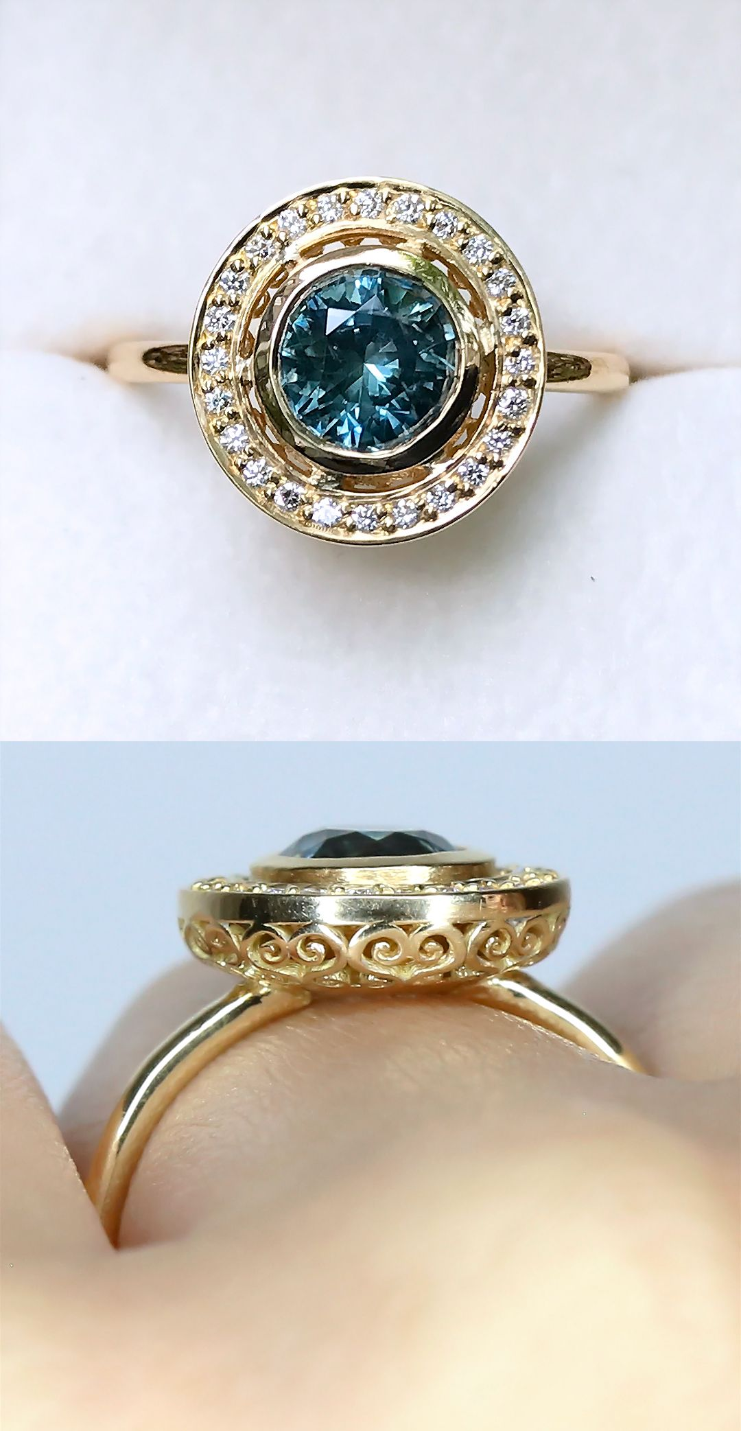 designs blue rings jewelry renaissance engagement product topaz ring filigree style