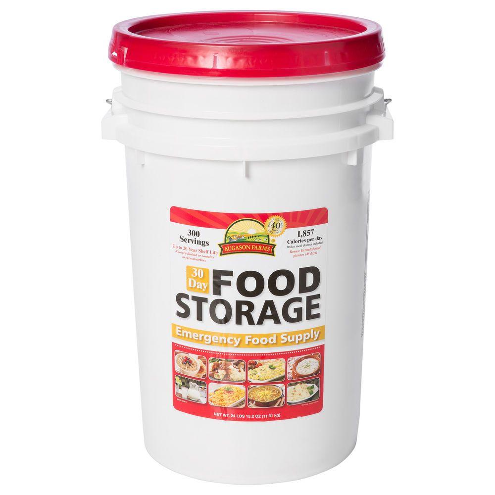 Augason farms 30day emergency food storage supply pail