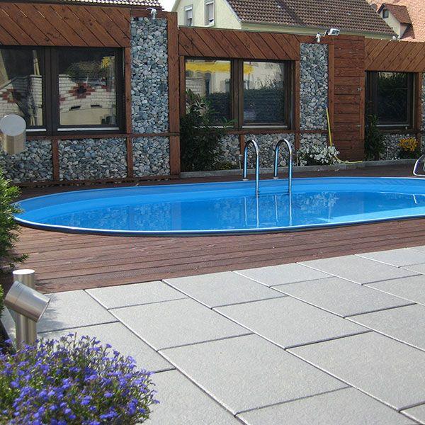 Gartenpool oval visionzon 5 40 x 3 60 x 1 20m mini pool for Ovaler pool garten
