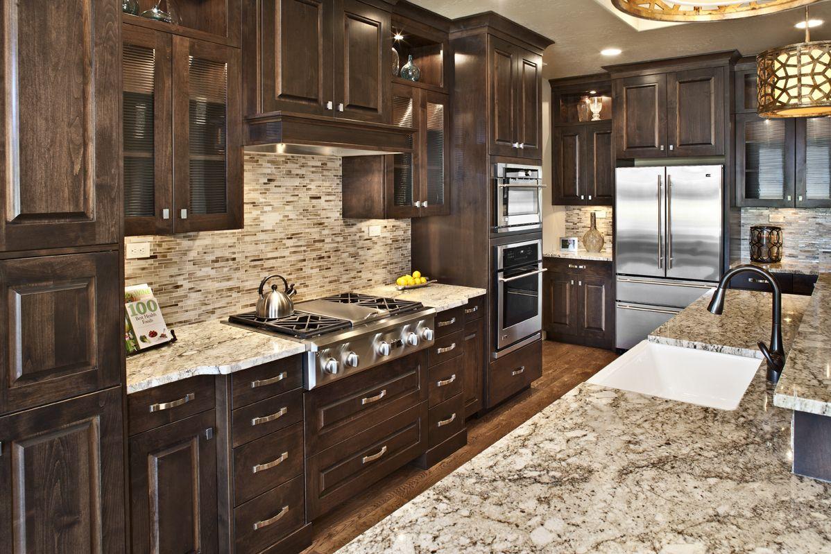 Grand Kitchen With Dark Cabinets Grand Kitchen Home Home Builders