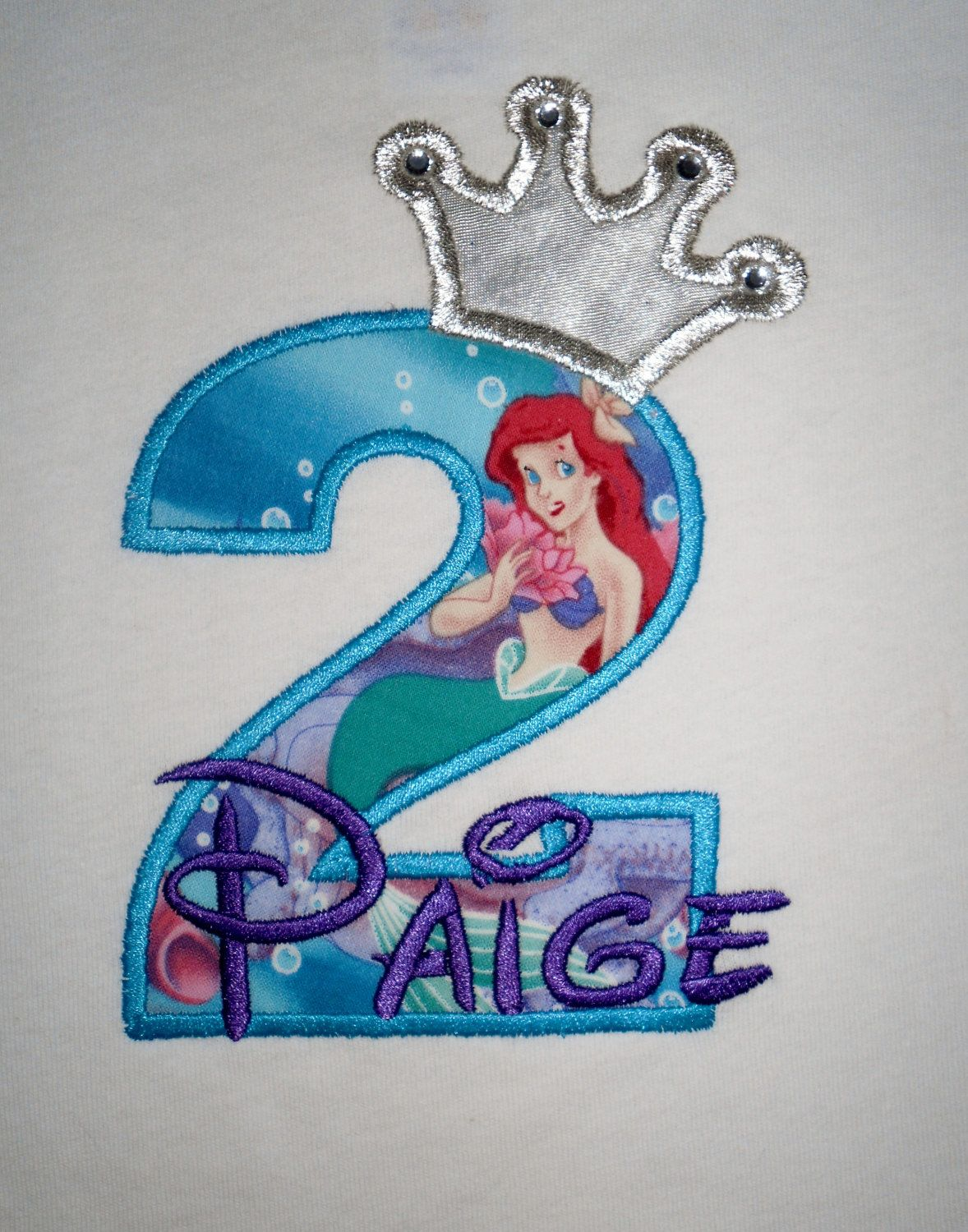 Design Your Own Birthday Number Princess Ariel Little Mermaid
