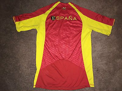 XS KIPSTA Espana Red Yellow Jersey T Shirt equarea  Extra Small Pit to Pit 20 In
