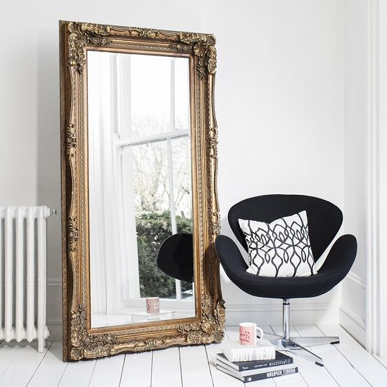 White Baroque Floor Mirror. Like This Item? White Baroque Floor ...