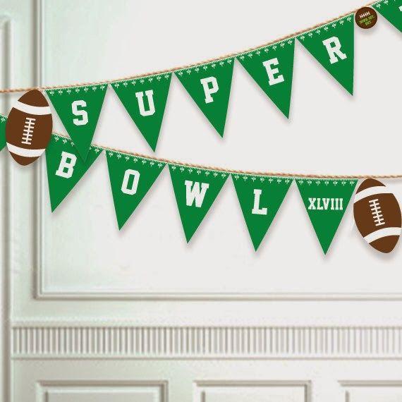 Printable super bowl banner | Super bowl decorations diy ...