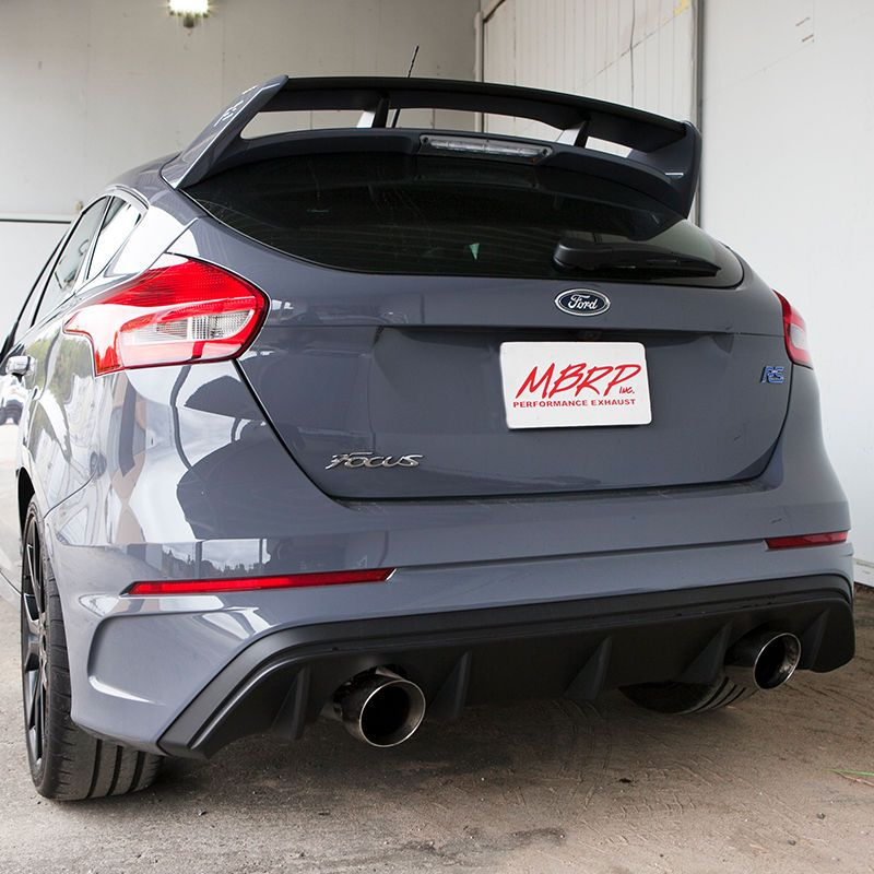 Mbrp Aluminized 2016 2018 Ford Focus Rs 3in Cat Back Dual Outlet Exhaust S4203al Ebay Ford Focus Ford Focus Rs Focus Rs