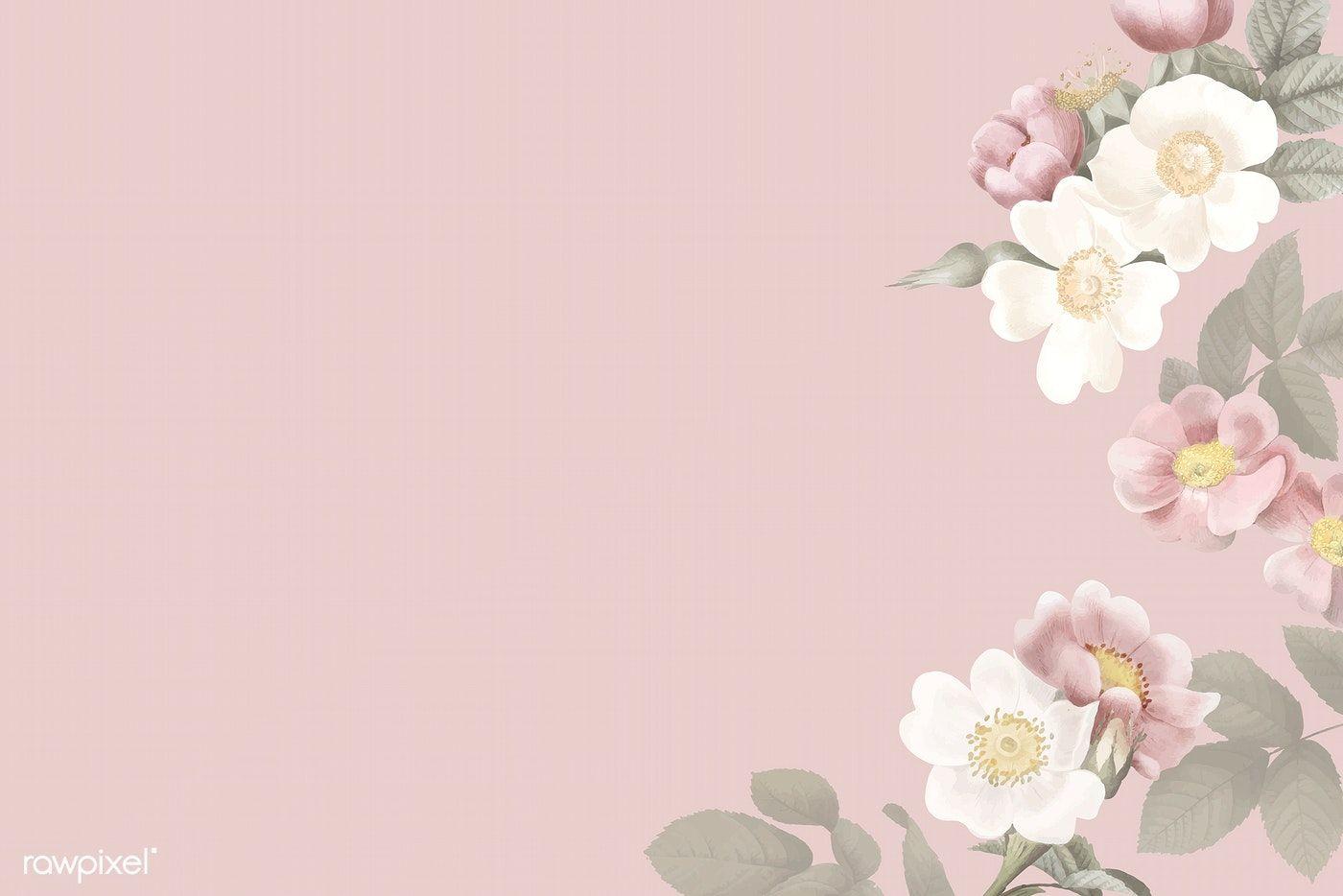 Elegant Floral Frame Design Vector Premium Image By Rawpixel Com Manotang Floral Graphic Design Flower Background Wallpaper Illustration Design