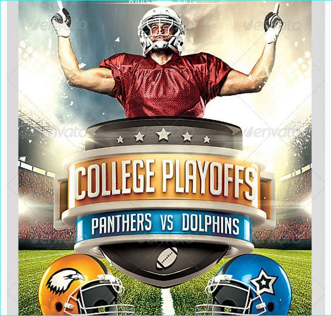 Football Big Game Flyer Template  Party Flyer Templates For Clubs