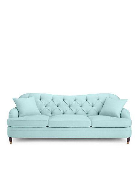 Drake Tufted Sofa Pale Aqua Large Furniture And Home Deco Enchanting Nativa Furniture Collection