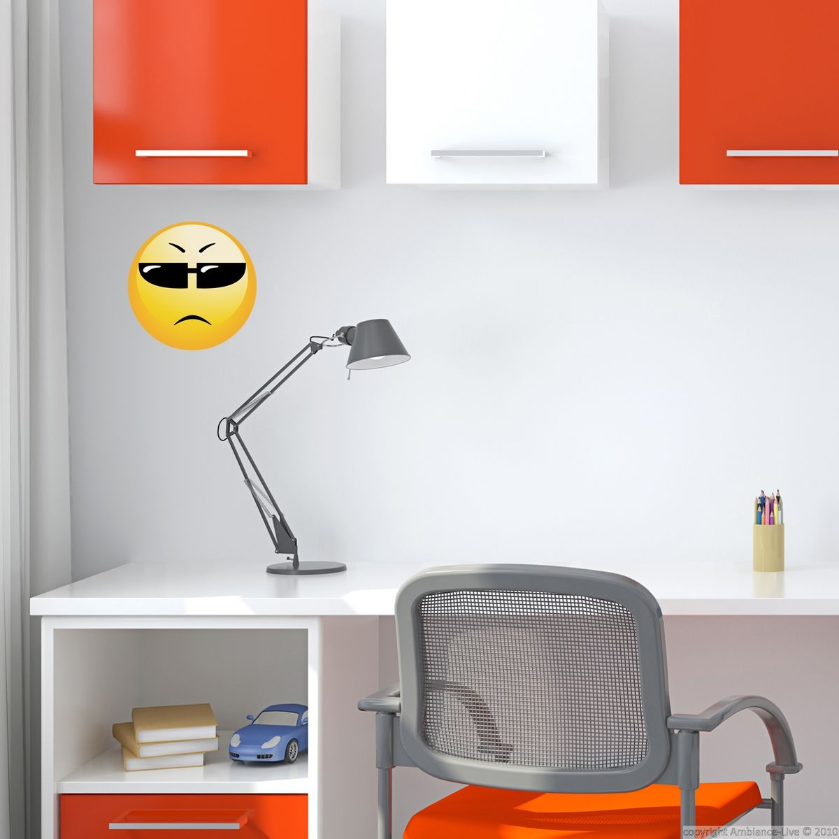 Sticker Smiley Agent  Amenagement chambre ado, Décoration chambre