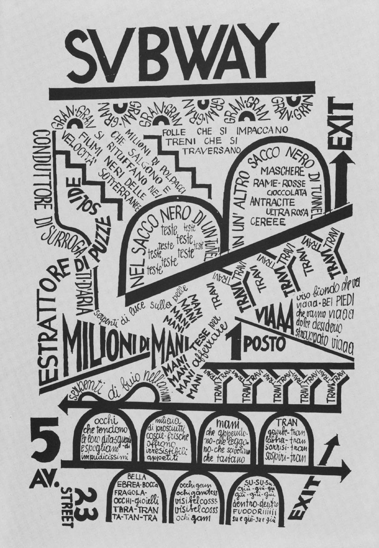 fortunato depero subway an example of a typograph from  fortunato depero subway 1929 an example of a typograph from the italian