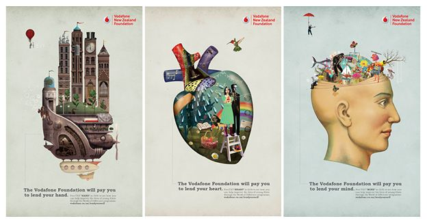 Best Graphic Design Arts Vodafone World Of Difference Campaign Posters By Watermark Ltd
