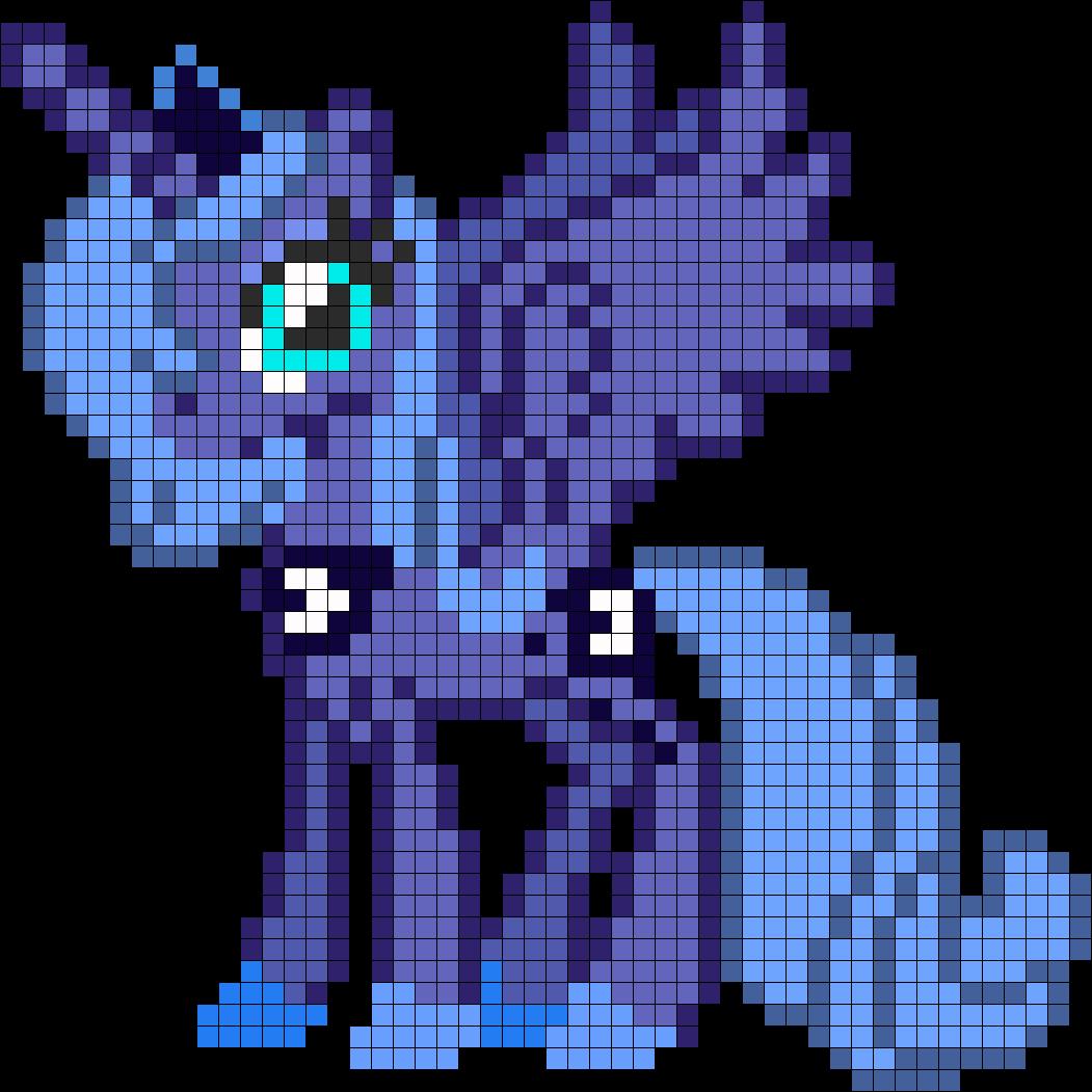 Princess Luna Bead Pattern Pixel Art Pokemon Pixel Art