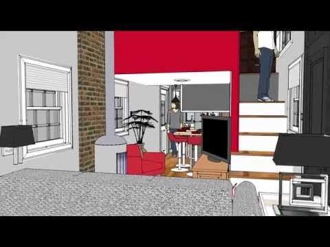 300 sq. ft. 10' x 30' tiny house design   tiny homes   pinterest