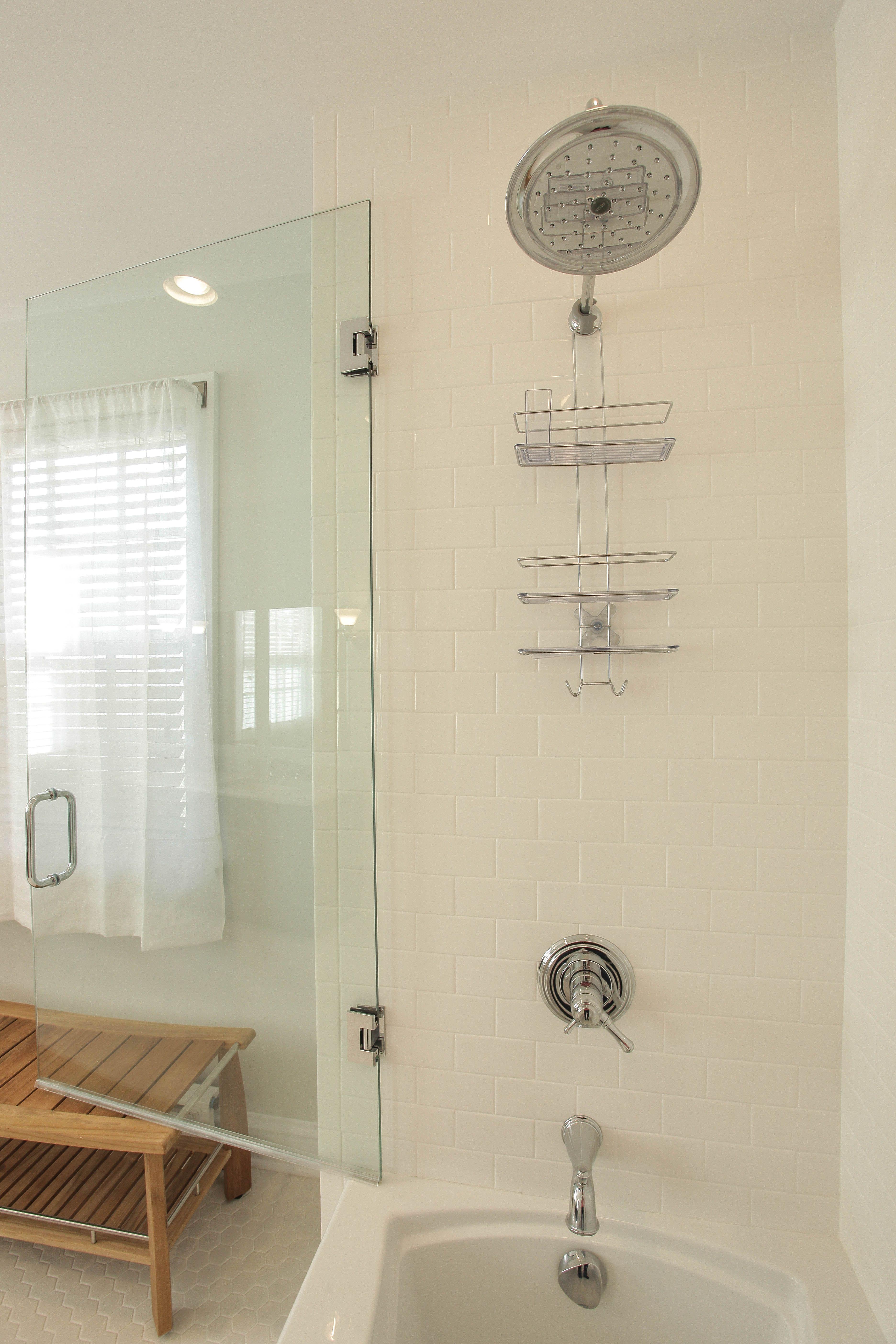 Crisp, clean bathroom remodel by Katlia Construction with @Delta ...