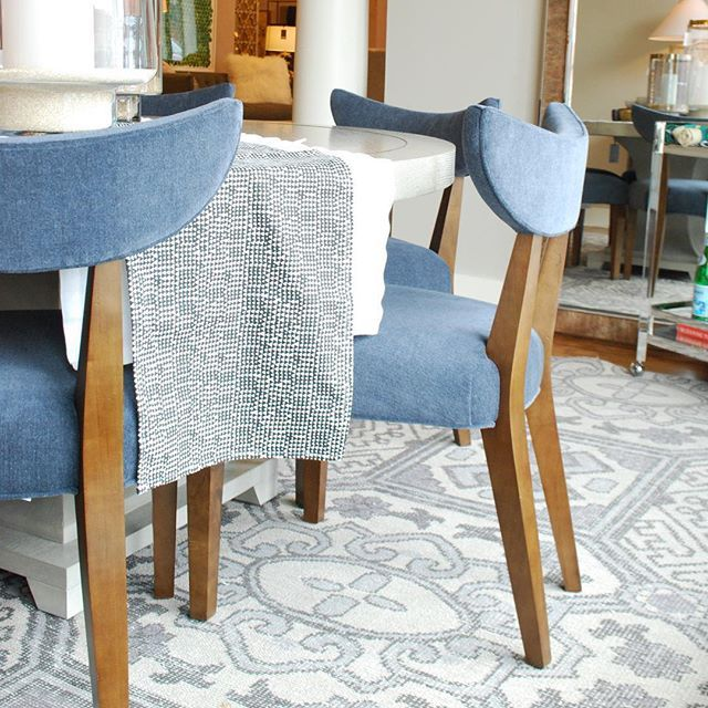 Alice Lane Home Collection | Velvet dining chairs in slate | Alice ...