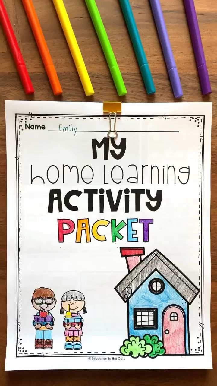 Photo of FREE Home Activity Packet for Distance Learning