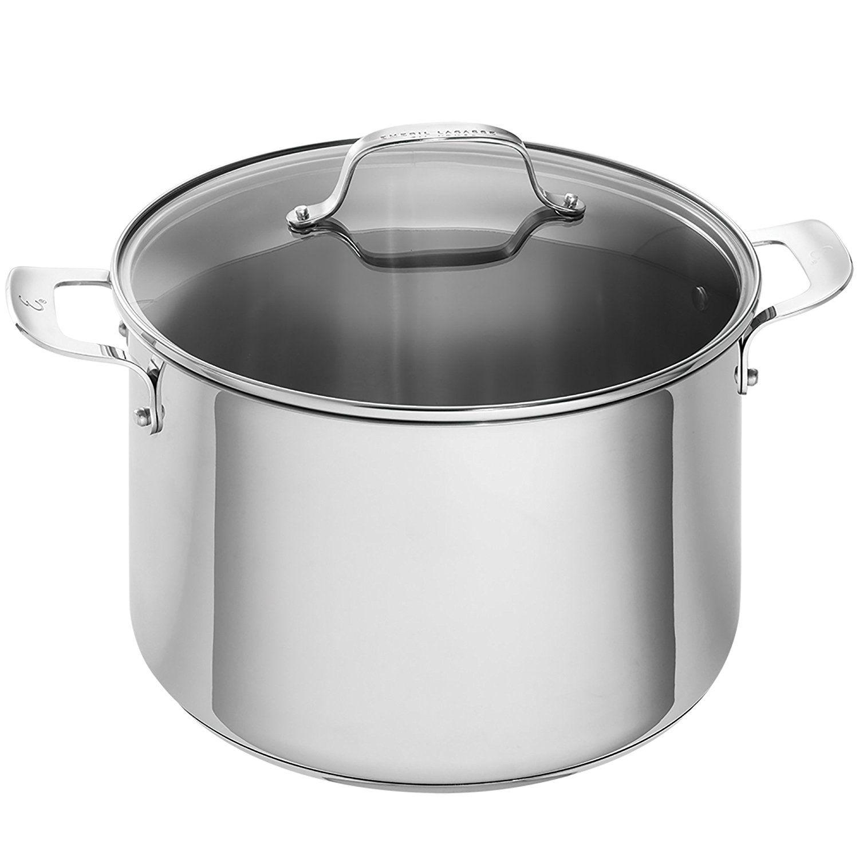 emeril lagasse 62961 stainless steel stock pot 12 quart silver