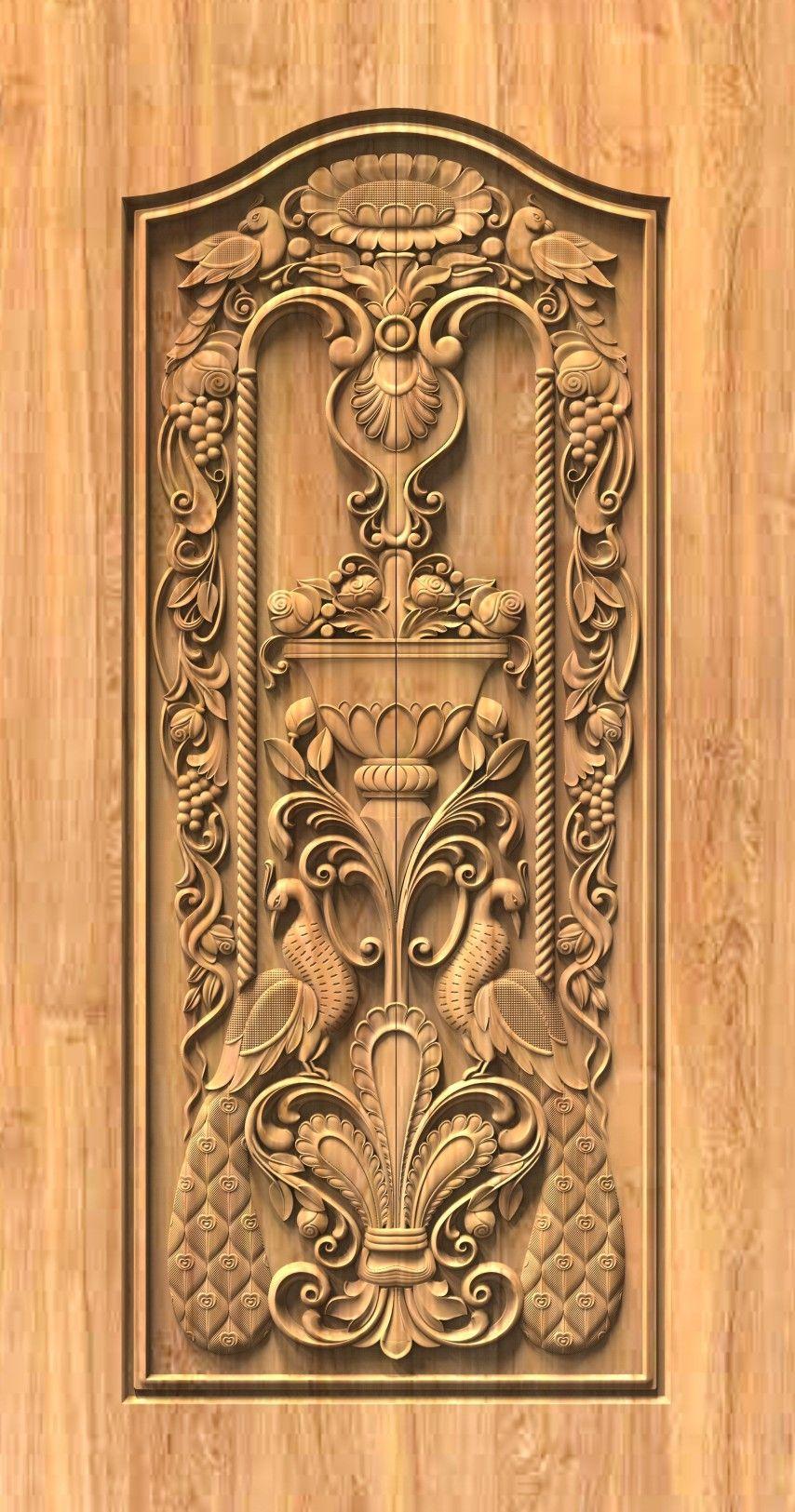 Artcam 3d Models In 2020 Door Design Wood Front Door Design Wood Wooden Door Design