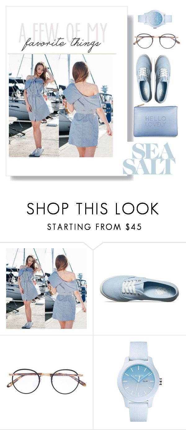 """""""Untitled #103"""" by karpacheva3 ❤ liked on Polyvore featuring Vans, Katie Loxton, Garrett Leight and Lacoste"""
